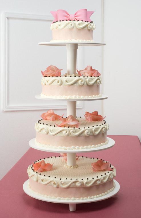 Gâteau Multi étage Blanc Rose Blog Boutique Magique