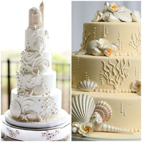 gâteaux de mariage bord de mer