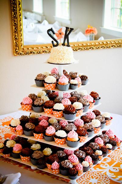 gateau mariage cupcakes