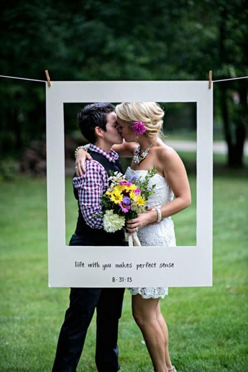 photo de mariage en couple avec photobooth