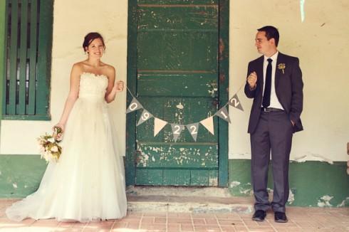 idée de photo pour marquer la date du mariage