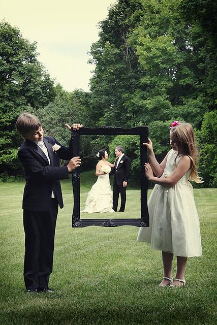 idée de photo mariage avec les enfants