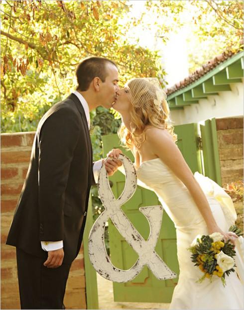 Une photo elle + lui le jour du mariage