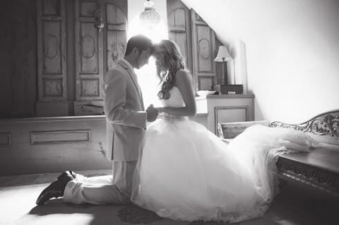 idée de photo de mariage en couple romantique