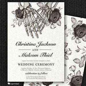 invitation mariage inspiration halloween