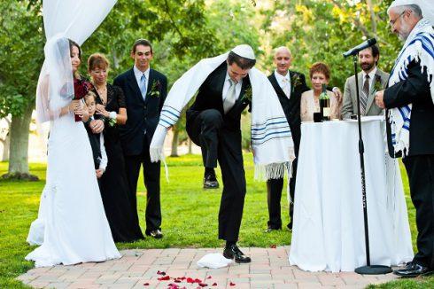 mariage juif casser verre