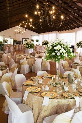 décoration de salle pour thème de mariage romantique