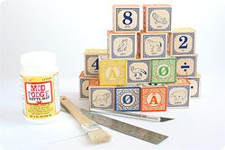 matériel puzzle bloc photo