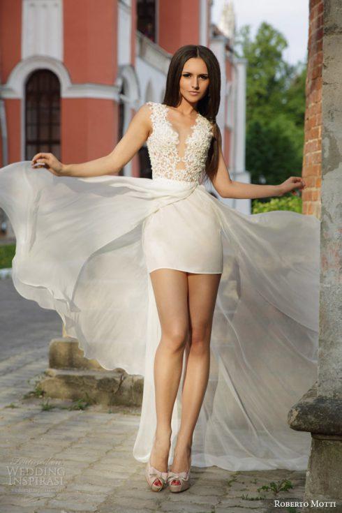mini robe mariée
