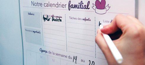 calendrier familial