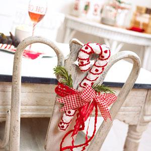 Bricolage De Noel Deco De Table Par L Habillage De Vos Chaises