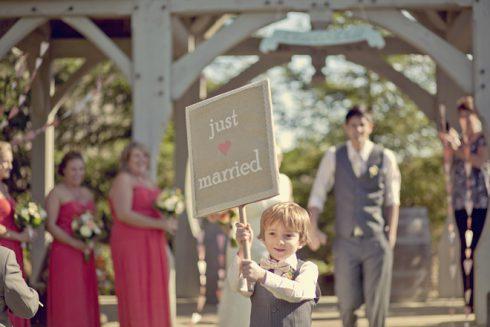 pancarte sortie des mariées