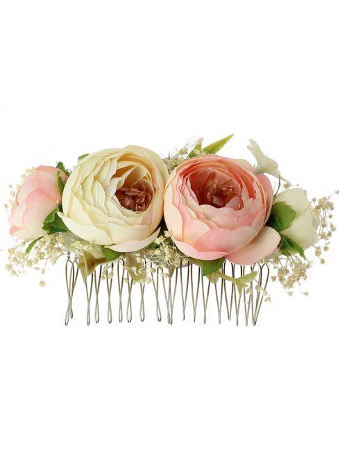 peigne de voile avec fleurs