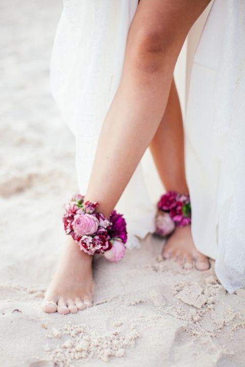 pied nu mariage bord de mer