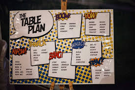 plan de table super héros
