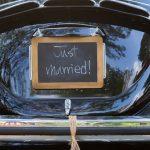 plaque d'immatriculation voiture mariage
