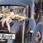 plaque jsut married voiture mariage