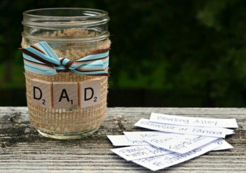 pot en verre customisé cadeau fête des pères