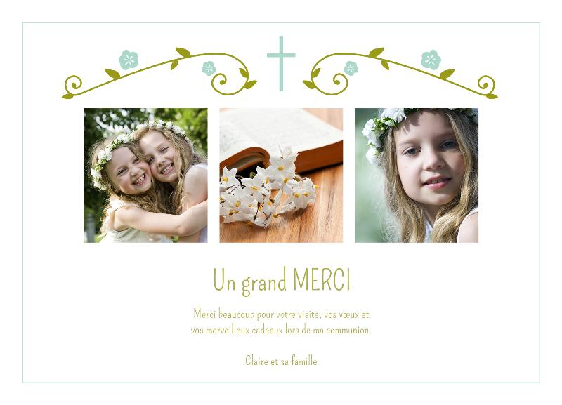 Connu Remerciement Communion : Chloé vous aide à préparer vos cartes  QD26