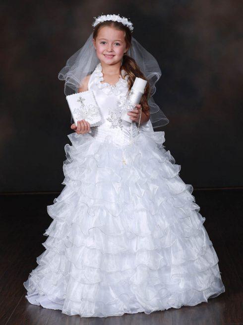 robe baptême blanche