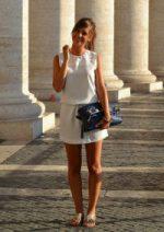 robe blanche décontractée