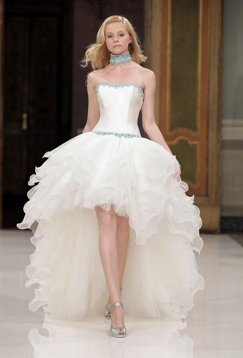en présentant nouveau design les mieux notés Robe de mariée courte devant et longue derrière | Blog ...