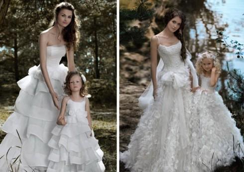Robe demoiselle d'honneur et mariée