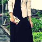 robe longue blazer