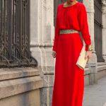 robe longue ceinture doré