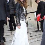 robe longue veste cuir