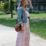robe longue veste en jeans