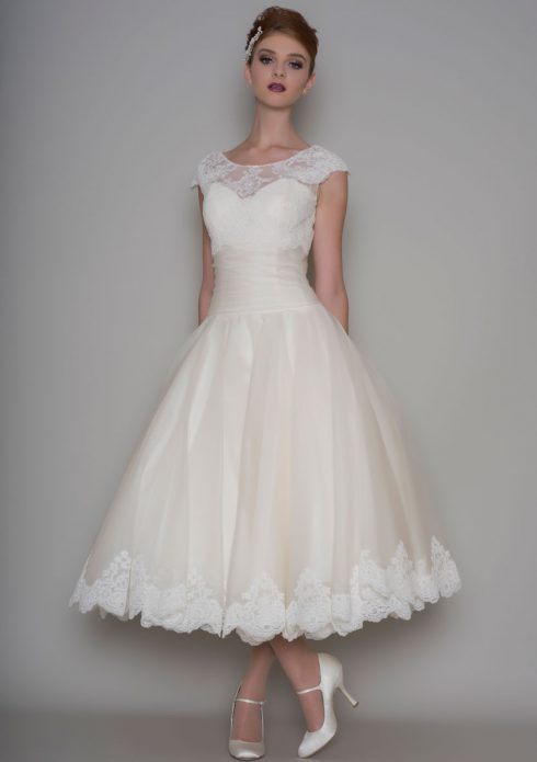 robe mariée mi mollet