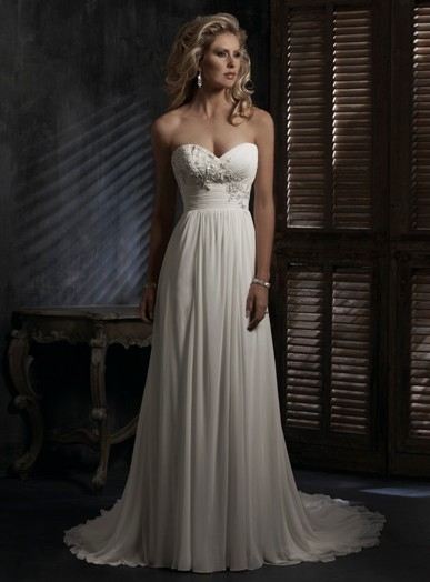 robe mariée taille empire