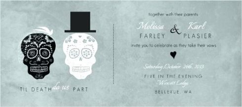 invitation mariage halloween