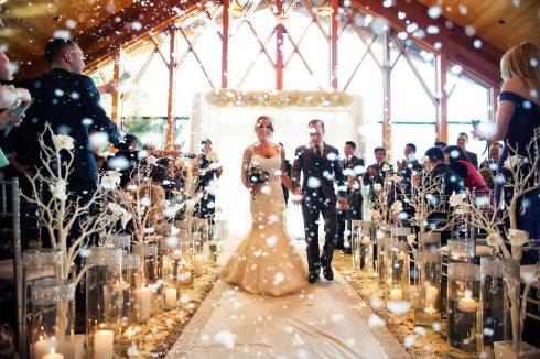 neige cérémonie mariage