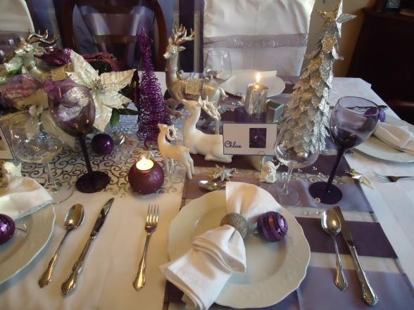 Déco De Table Pour Noel Violet Décor De Noël Blog Boutique Magique