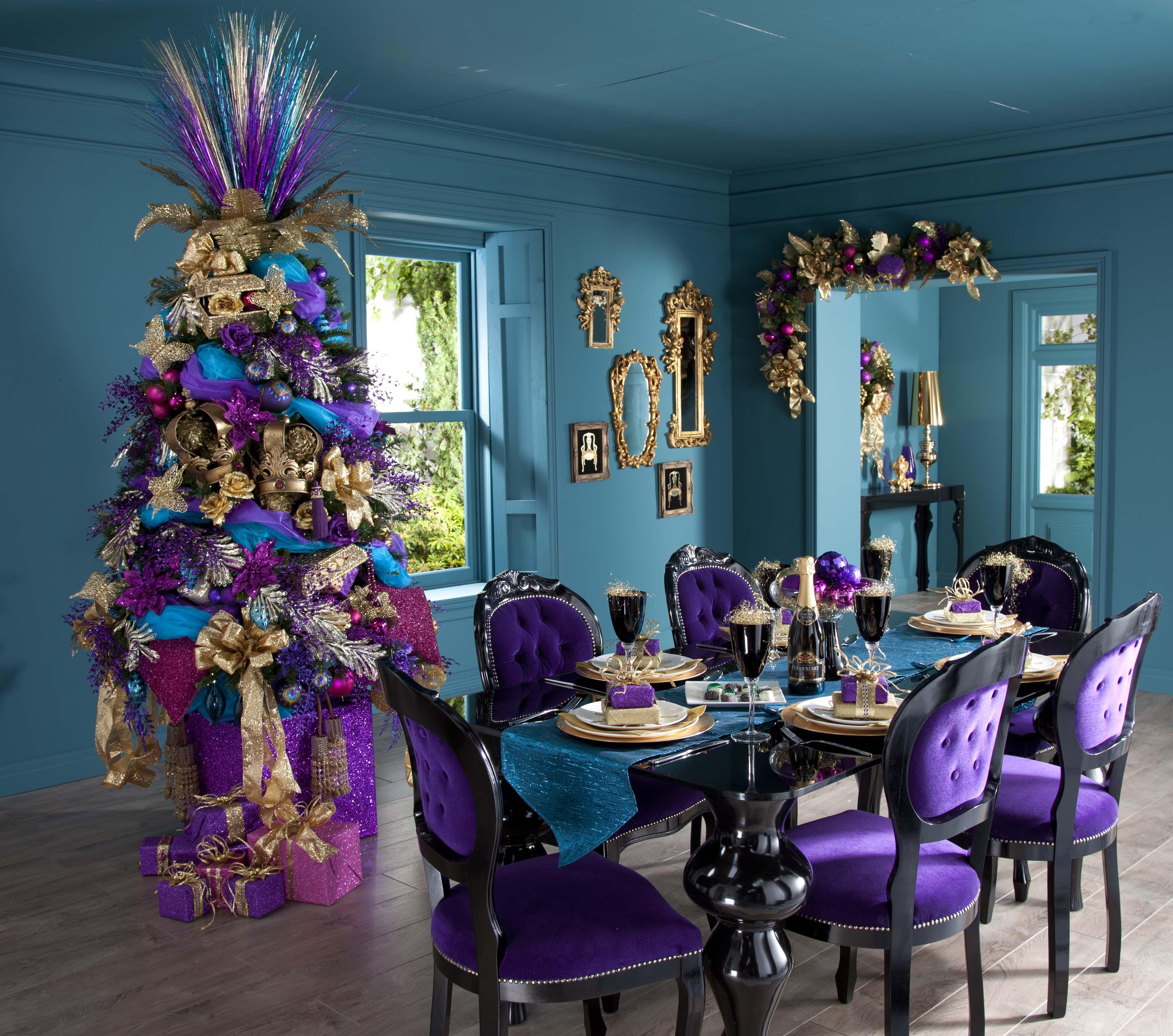 #69377B Déco De Table Pour Noel Violet Décor De Noël Blog  6205 decoration de table de noel turquoise 3804x3358 px @ aertt.com