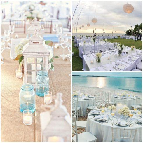tables mariage bord de mer