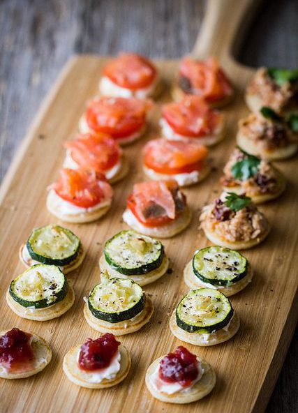 Id es de buffet froid pour une c r monie blog boutique for Canape toppings ideas