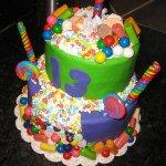 Post image for Des gâteaux d'anniversaire avec bonbons faciles à faire
