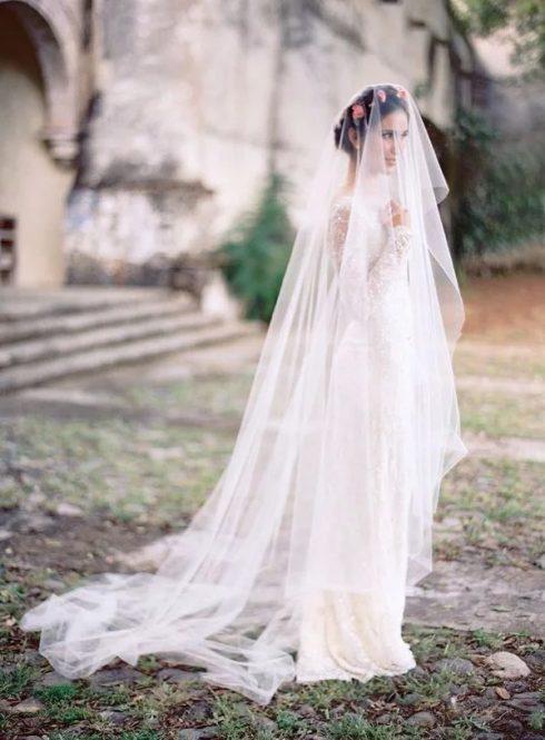 Voile de mariée Cathédrale