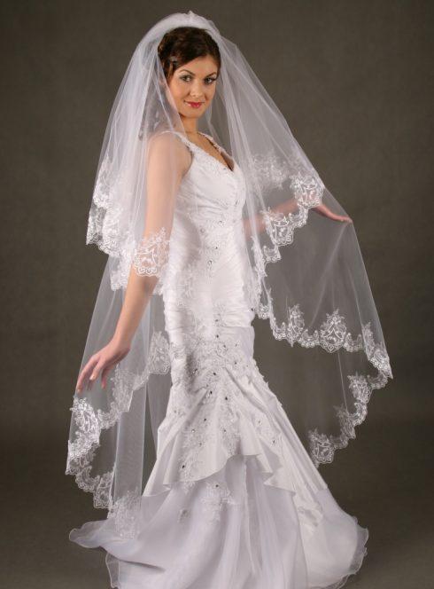 Voile de mariée type Valse